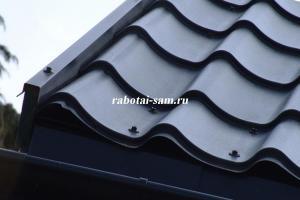 Монтаж крыши дома