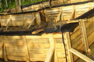 Опалубка из деревянных щитов