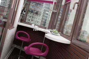 Бар на балконе со стойкой