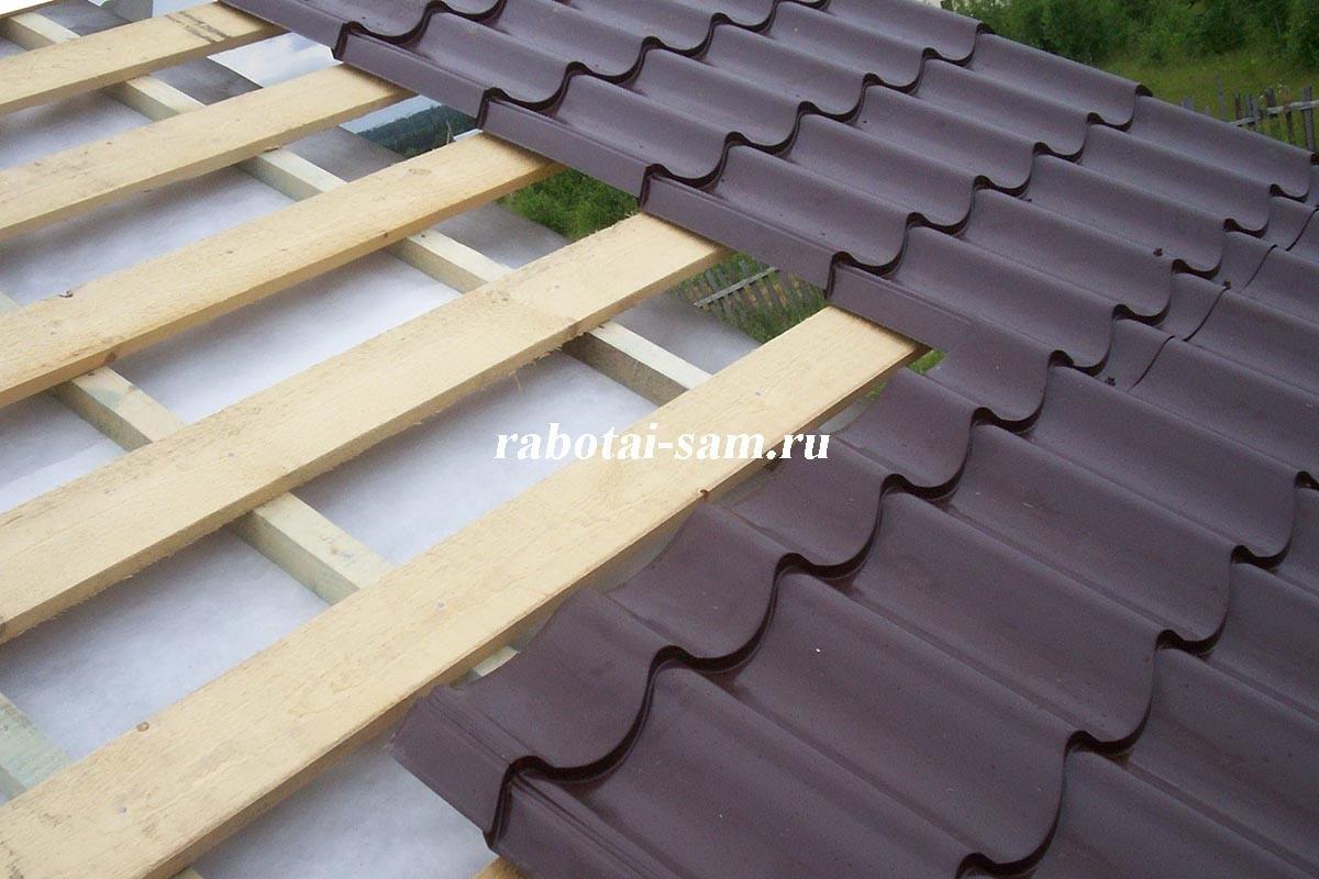 Как правильно сделать крышу из металлочерепицы фото 207