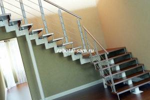 Простая поворотная лестница