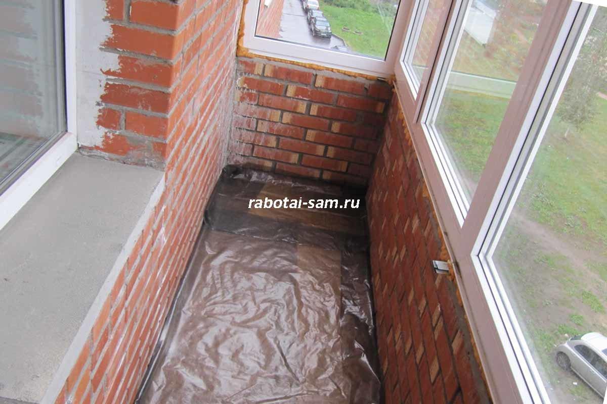 Внутренняя отделка балкона своими руками.