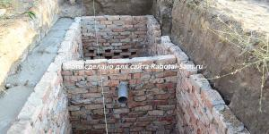 Большая выгребная яма с тройной естественной очисткой