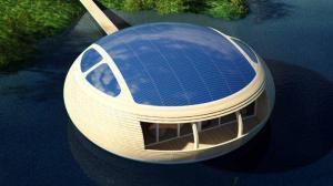 Автономный плавающий дом с генератором питьевой воды