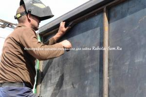 Укрепление конструкции ворот с армировочным поясом