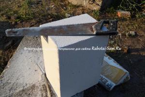 Строительство гаража из пеноблоков с фото и видео материалами