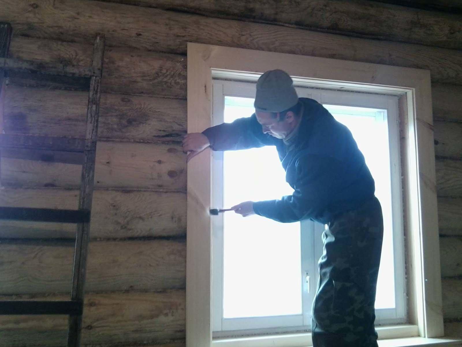 Правильный монтаж деревянных откосов