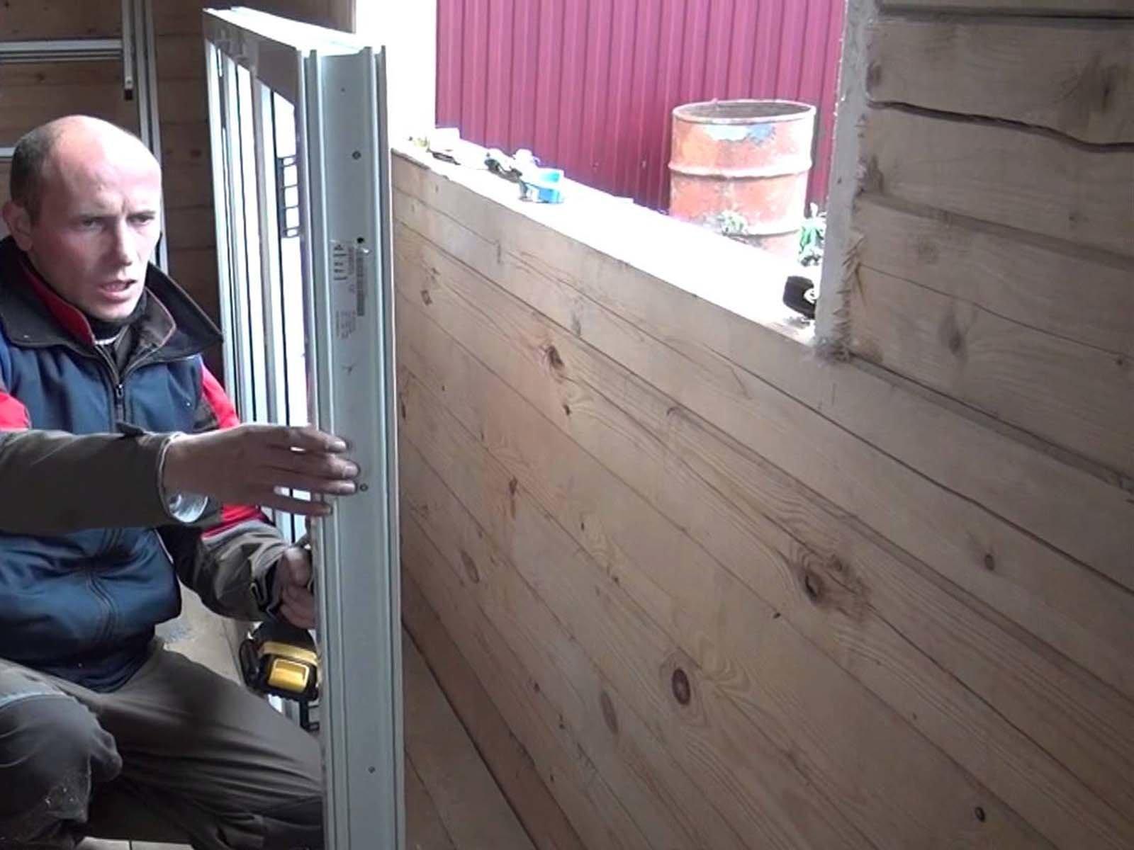 Устанавливаем раму металлопастикового окна