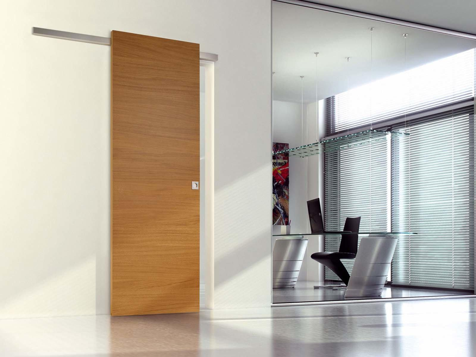 Установка межкомнатной одностворчатой двери-купе по всем правилам