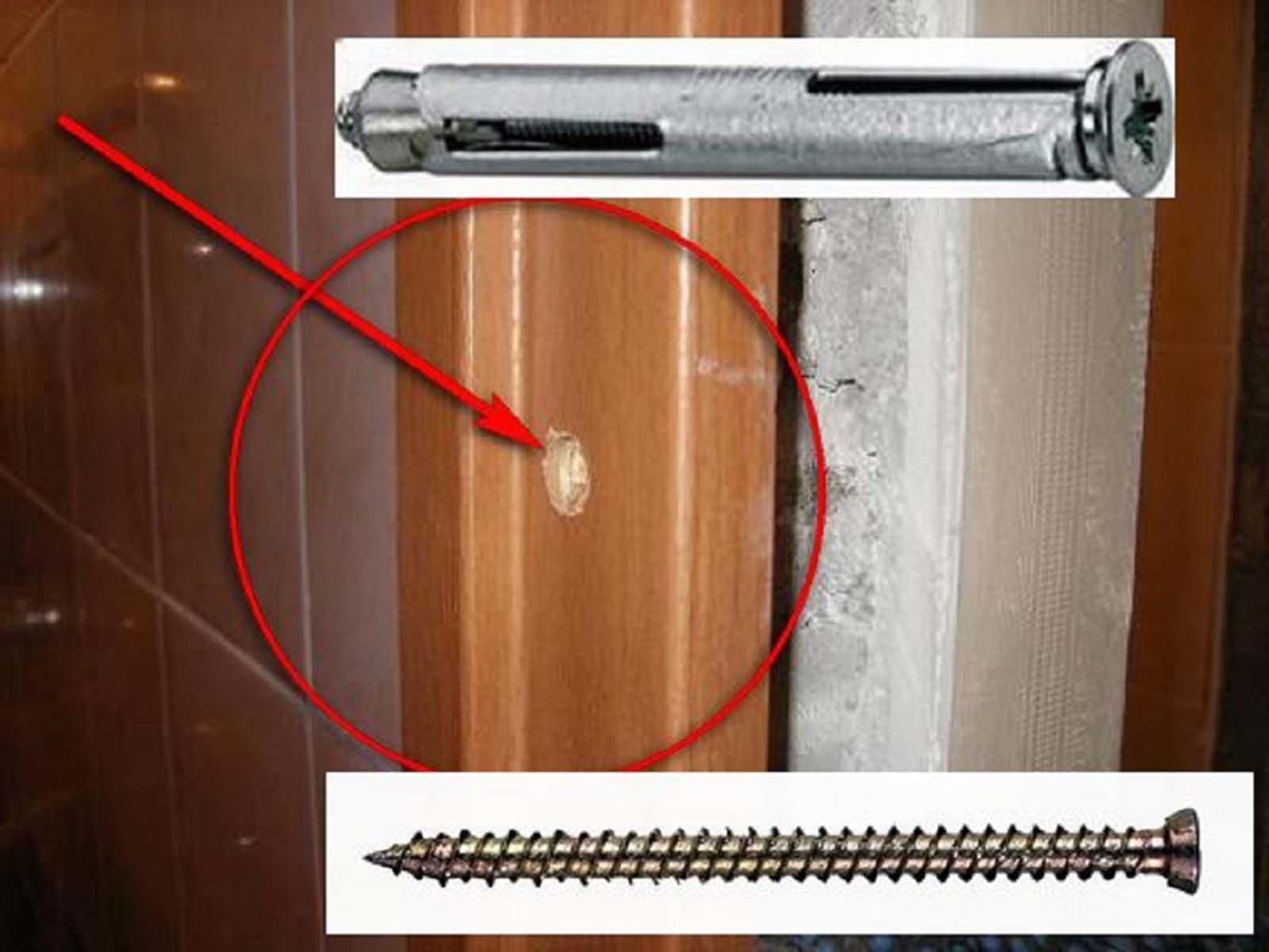 Крепление дверного короба межкомнатной двери