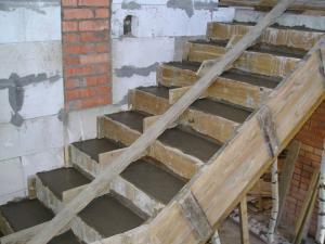Бетонные ступеньки в дачный подвал