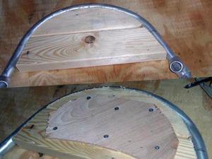 Выгибаем трубы при помощи самодельного деревянного трубогиба