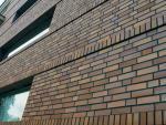 Стройка из фасадного клинкерного кирпича