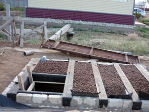 Крыша над самодельным погребом