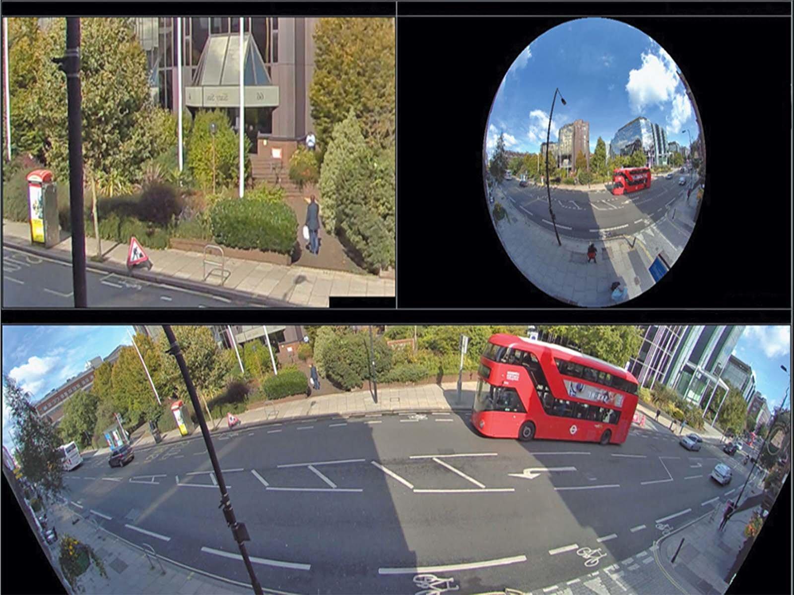 Большой угол обзора на камере слежения
