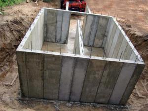 Стены для погреба из армированного бетона