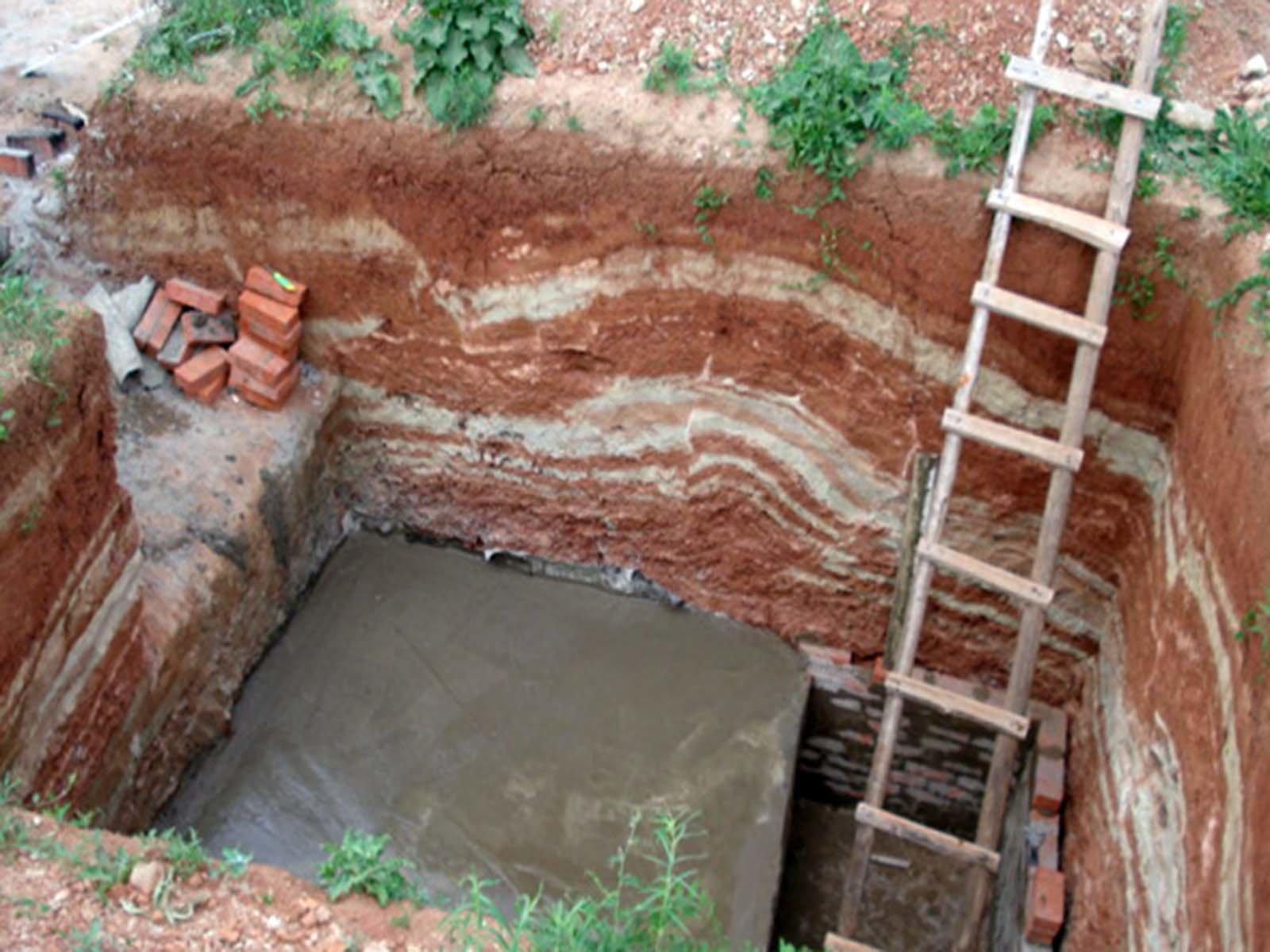 Бетонная стяжка для пола погреба на дачном участке