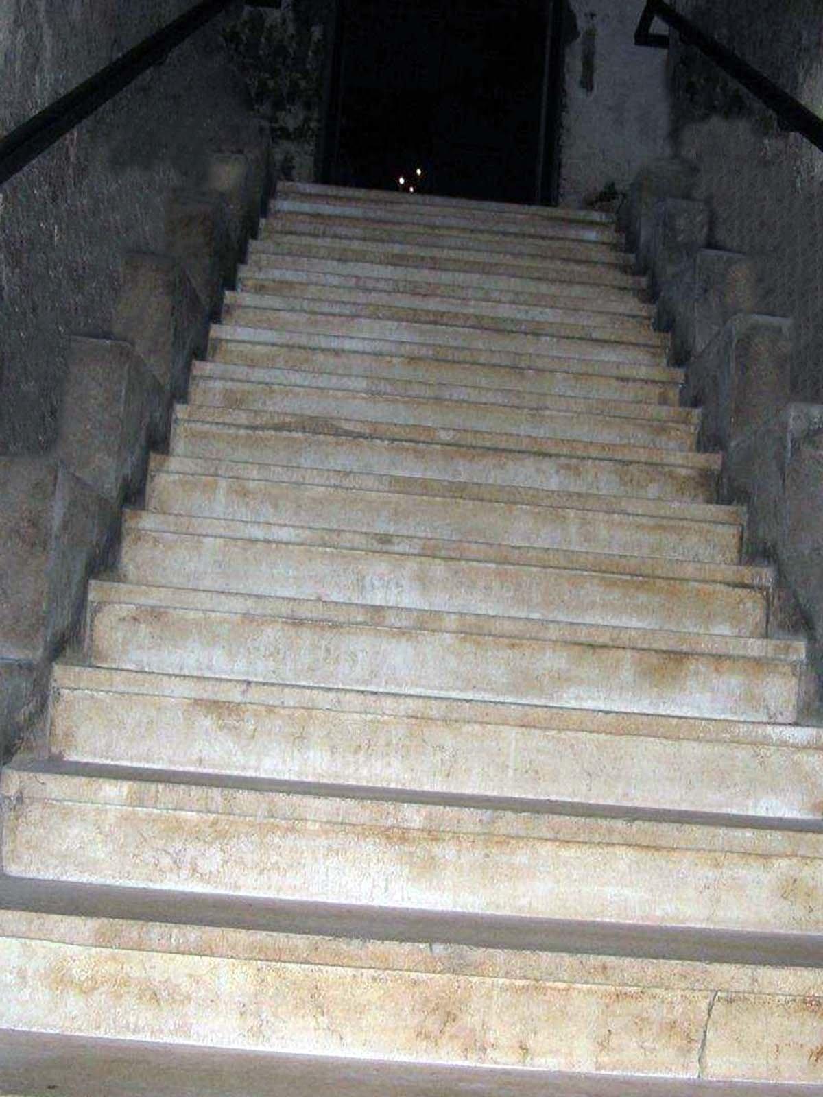 Бетонные ступеньки в дачный погреб