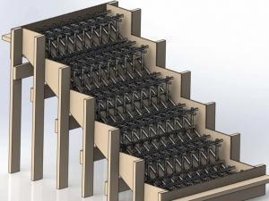 Бетонная лестница с армированием в дачный подвал