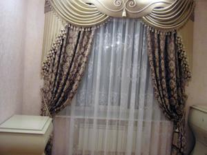 Декорируем старые шторы