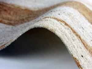Листы гибкого камня и его структура.