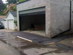 Пандус для въезда в гараж
