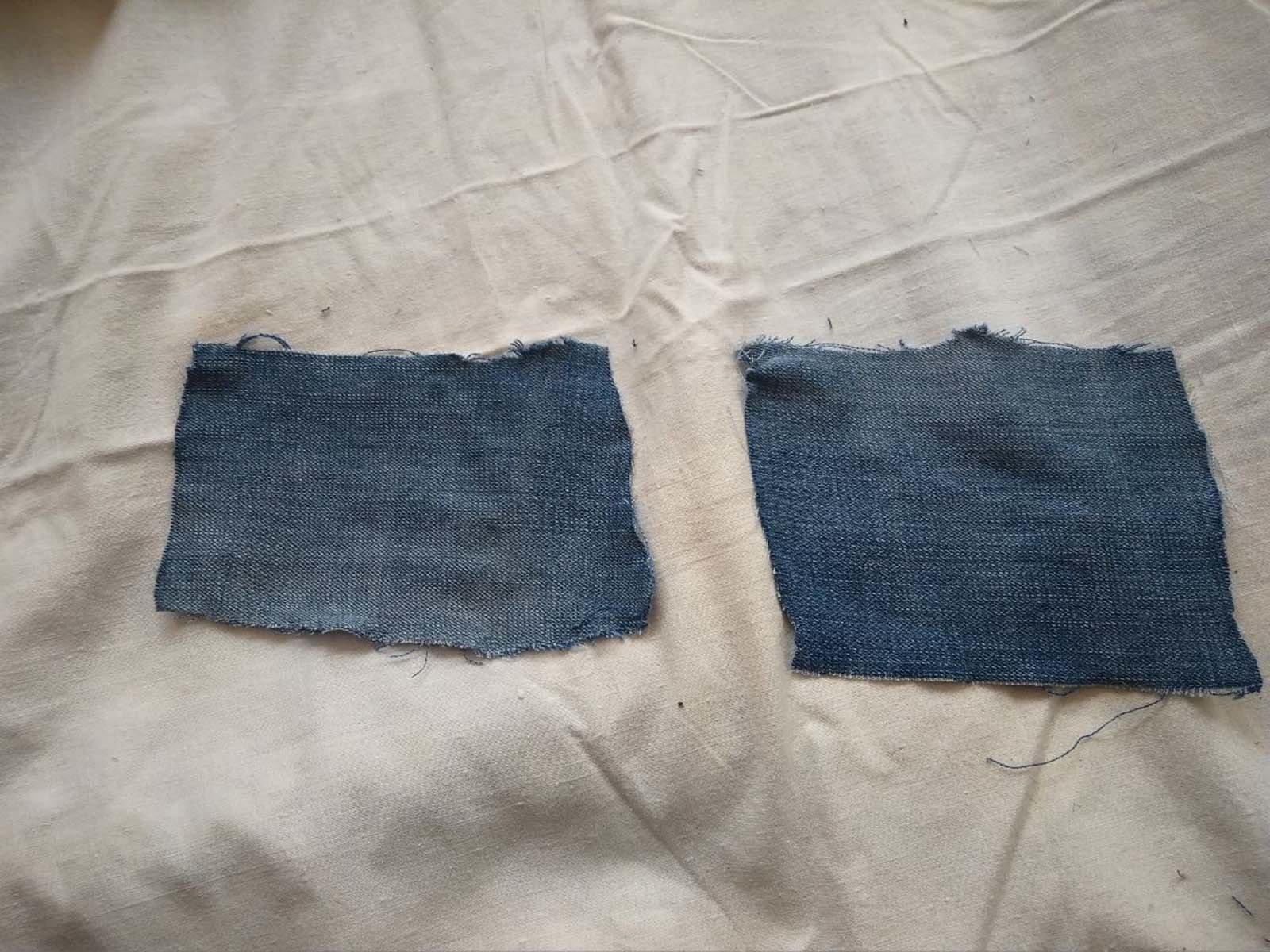 Вырезаем маленькие карманы из штанины