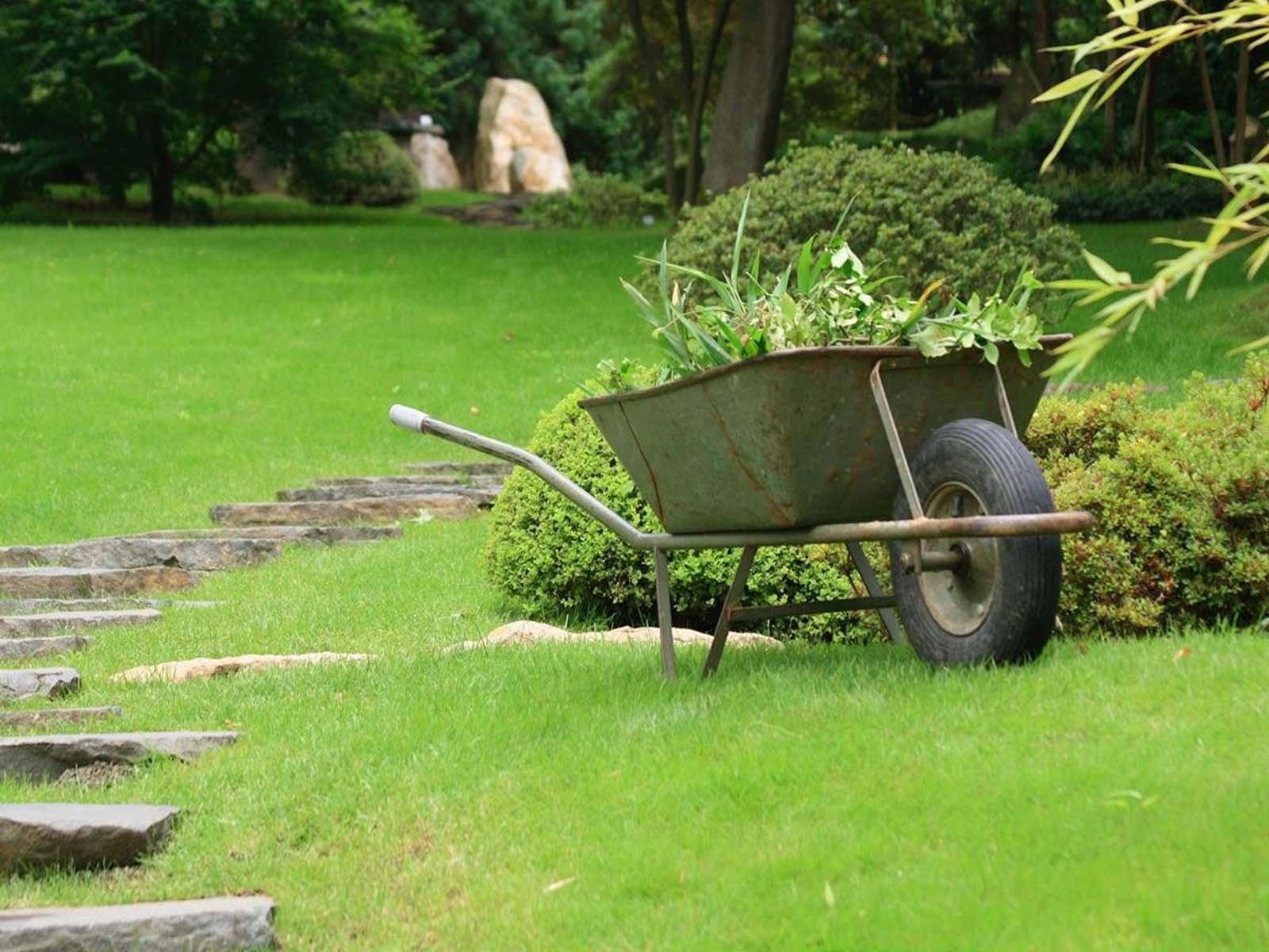 Пример одноколесной садовой тачки