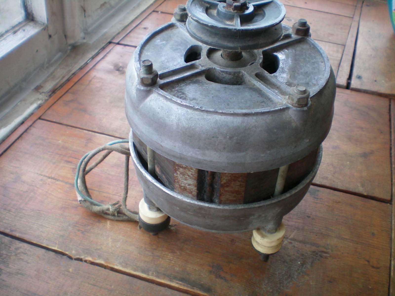 Двигатель от стиральной машины для газонокосилки