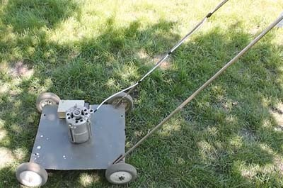 Как сделать газонокосилку из двигателя от стиральной машины