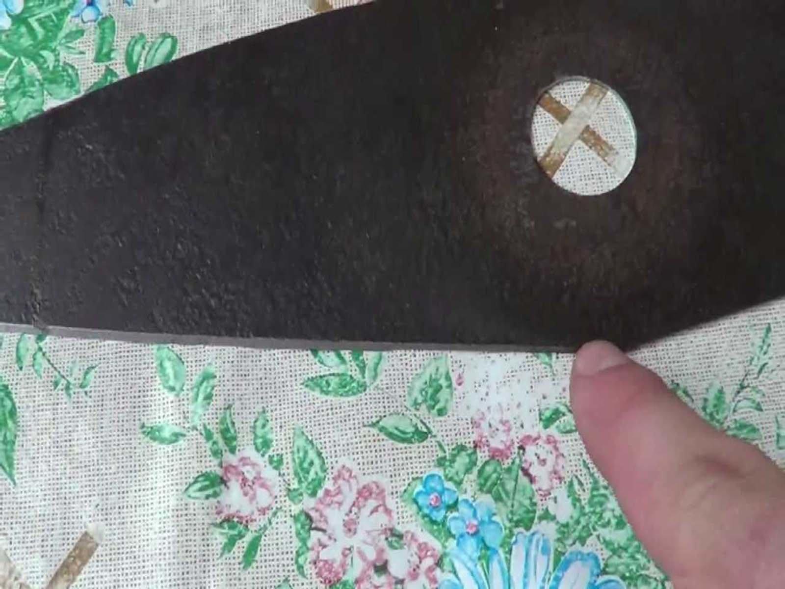 Самодельный нож для газонокосилки из пылесоса