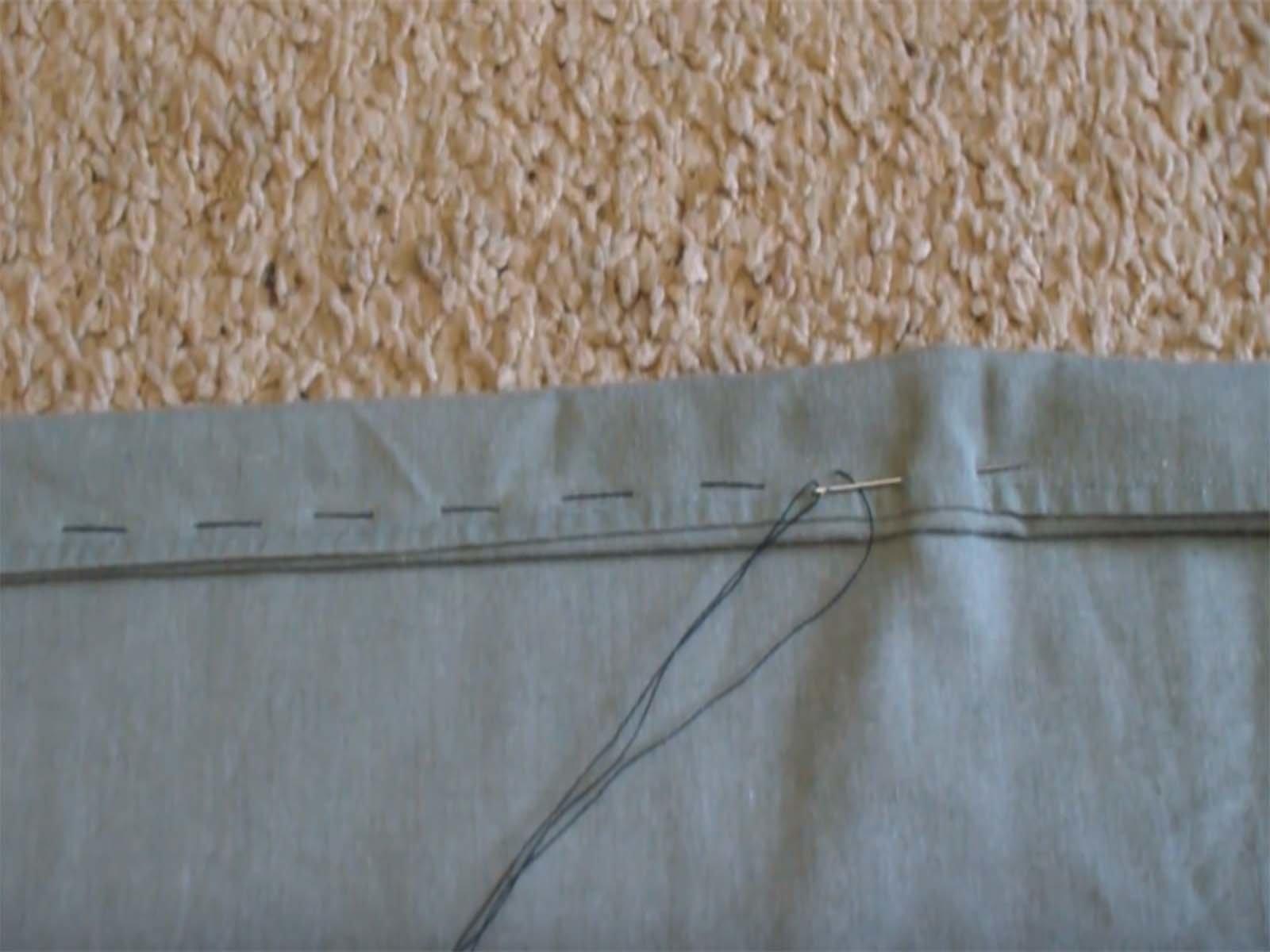Сшиваем полотно самодельного подвесного гамака