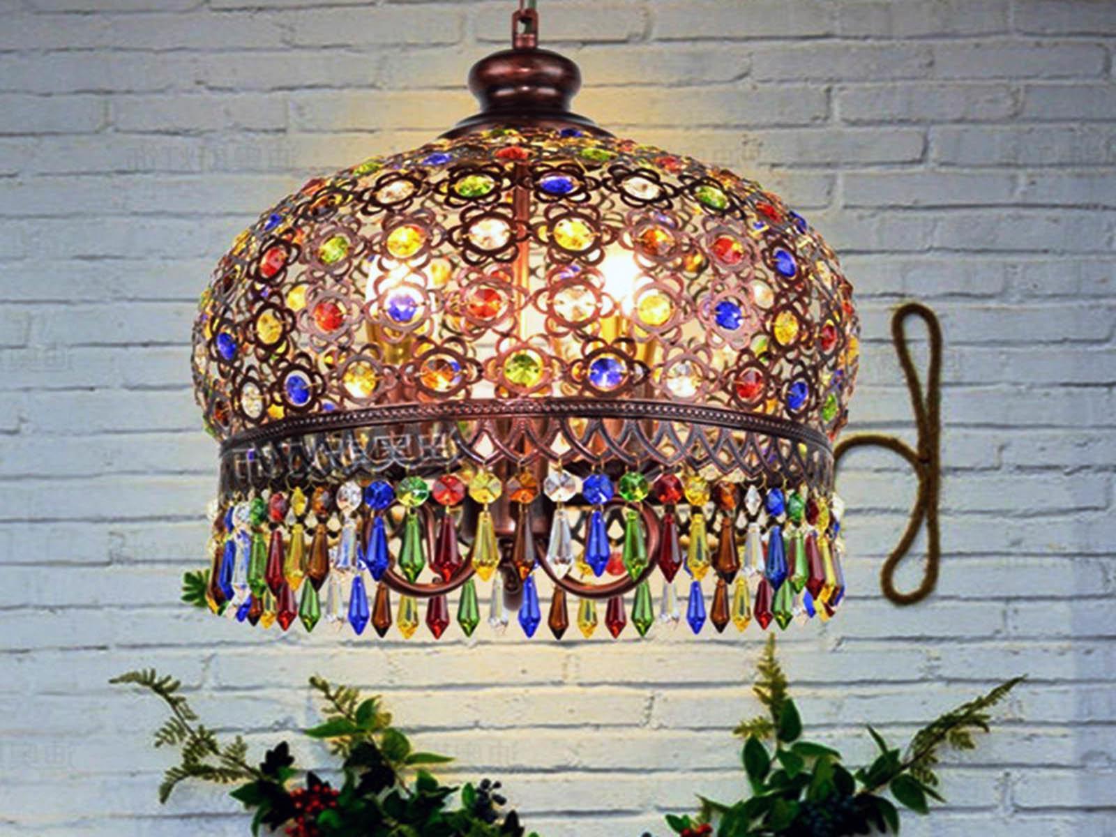 Выбираем богемный светильник для декора кухни