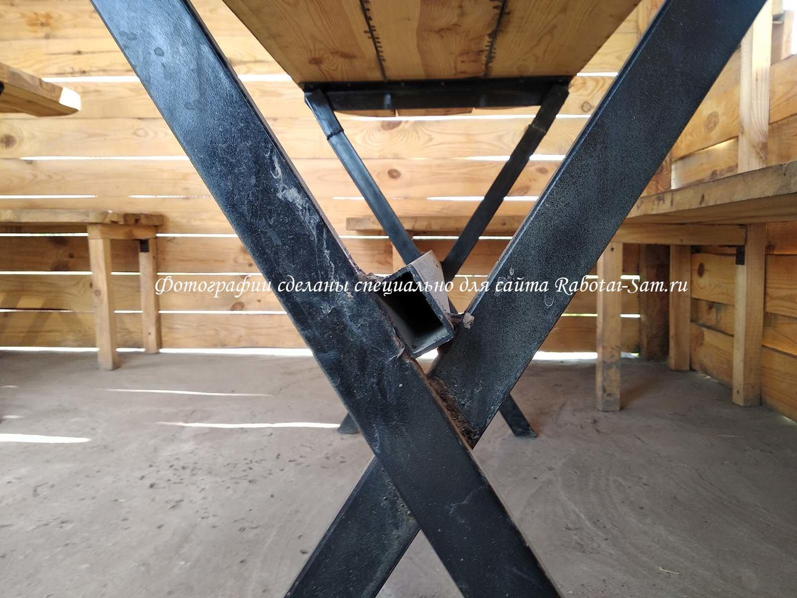 Надежный каркас для деревянного стола