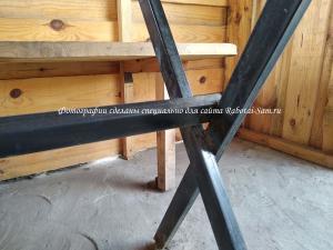 Простой каркас для деревянного стола