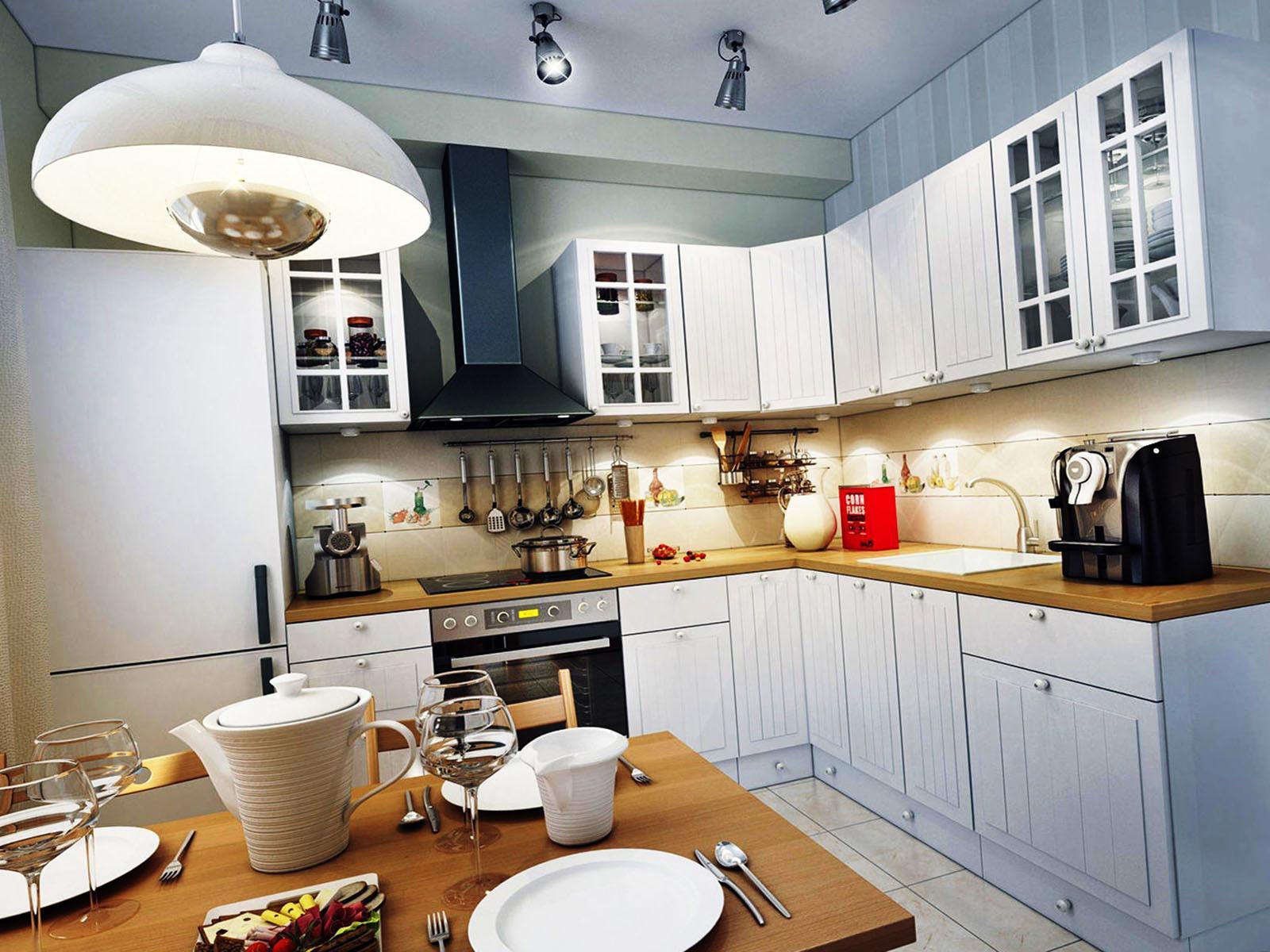 Вешаем в кухне керамические светильники