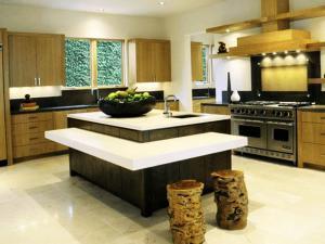 Многоуровневый кухонный остров - отличное решение 2020 года