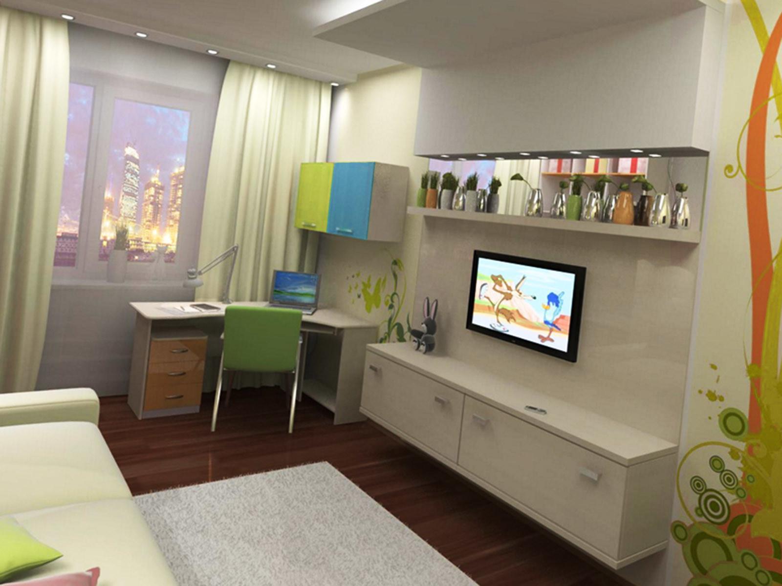 Небольшая мебель, футор, в декорировании будущей небольшой комнаты