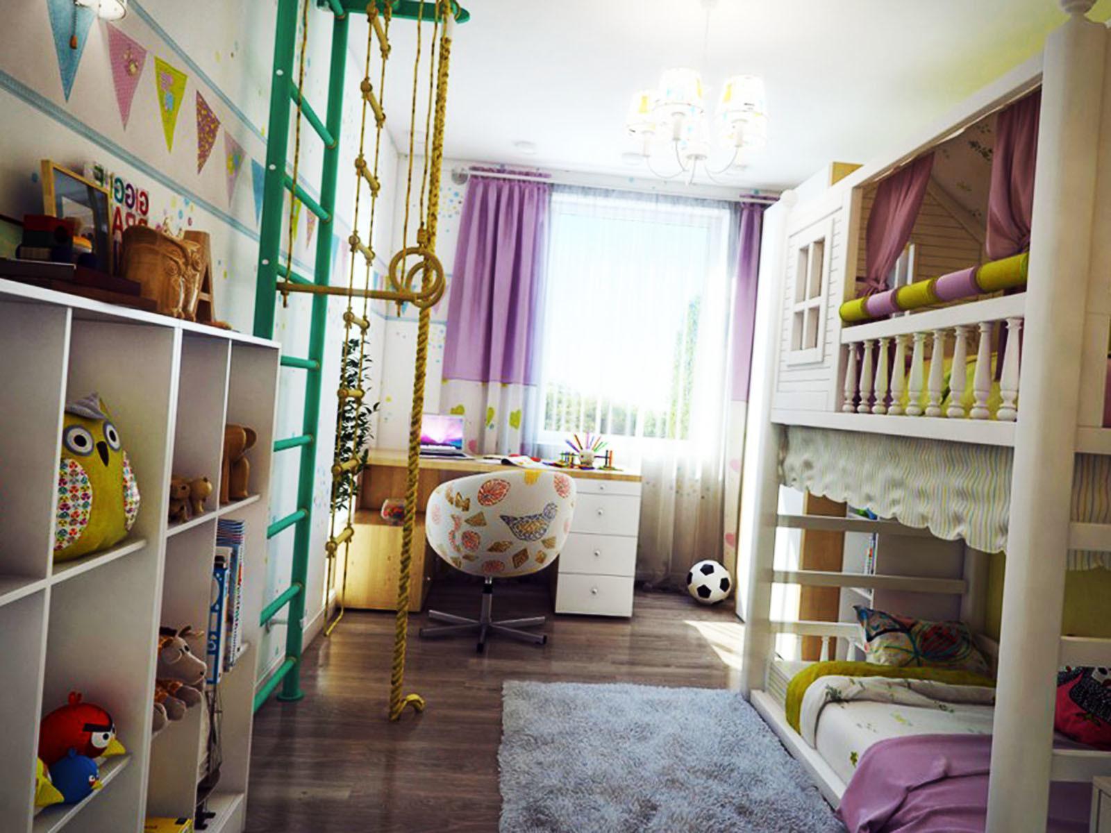 Украашем детскую комнату в нейтральный цвета