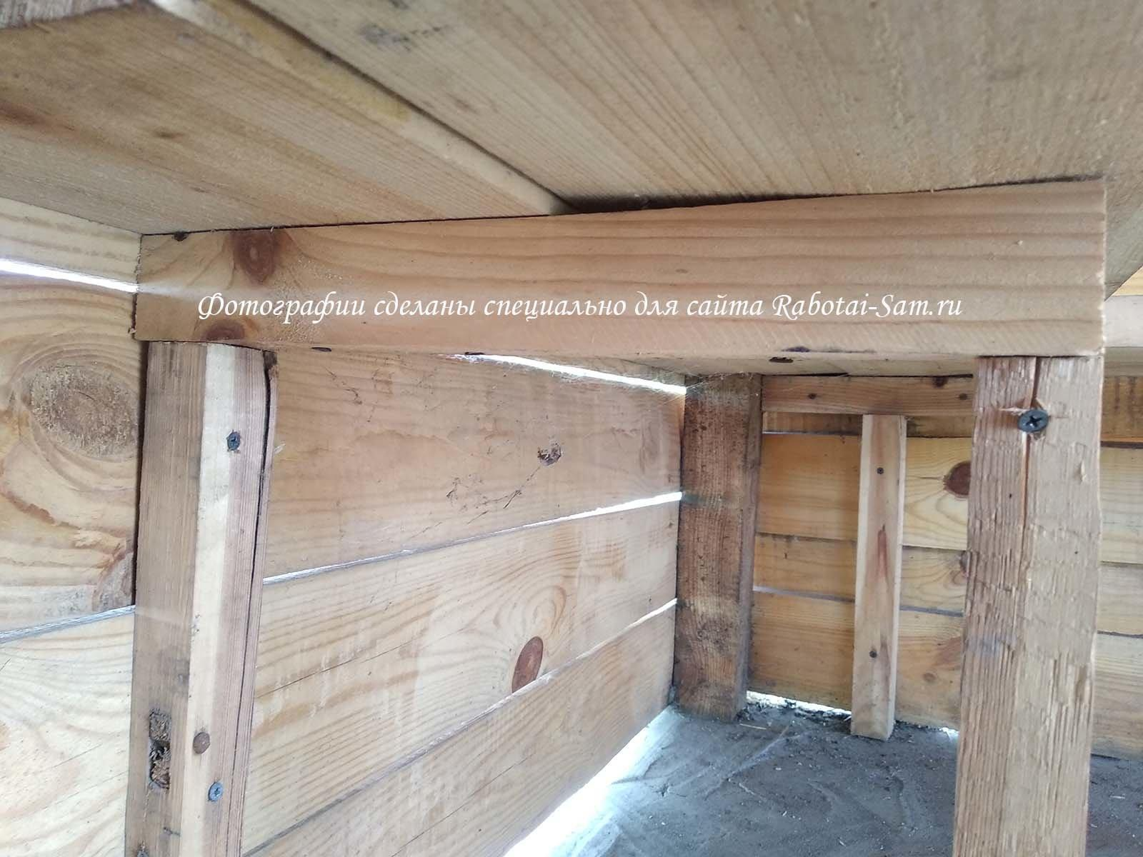 Опора лавочки для деревянной беседки