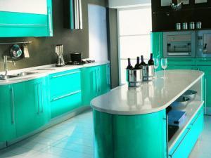 Овальный кухонный остров - для большой семьи и небольшой кухни
