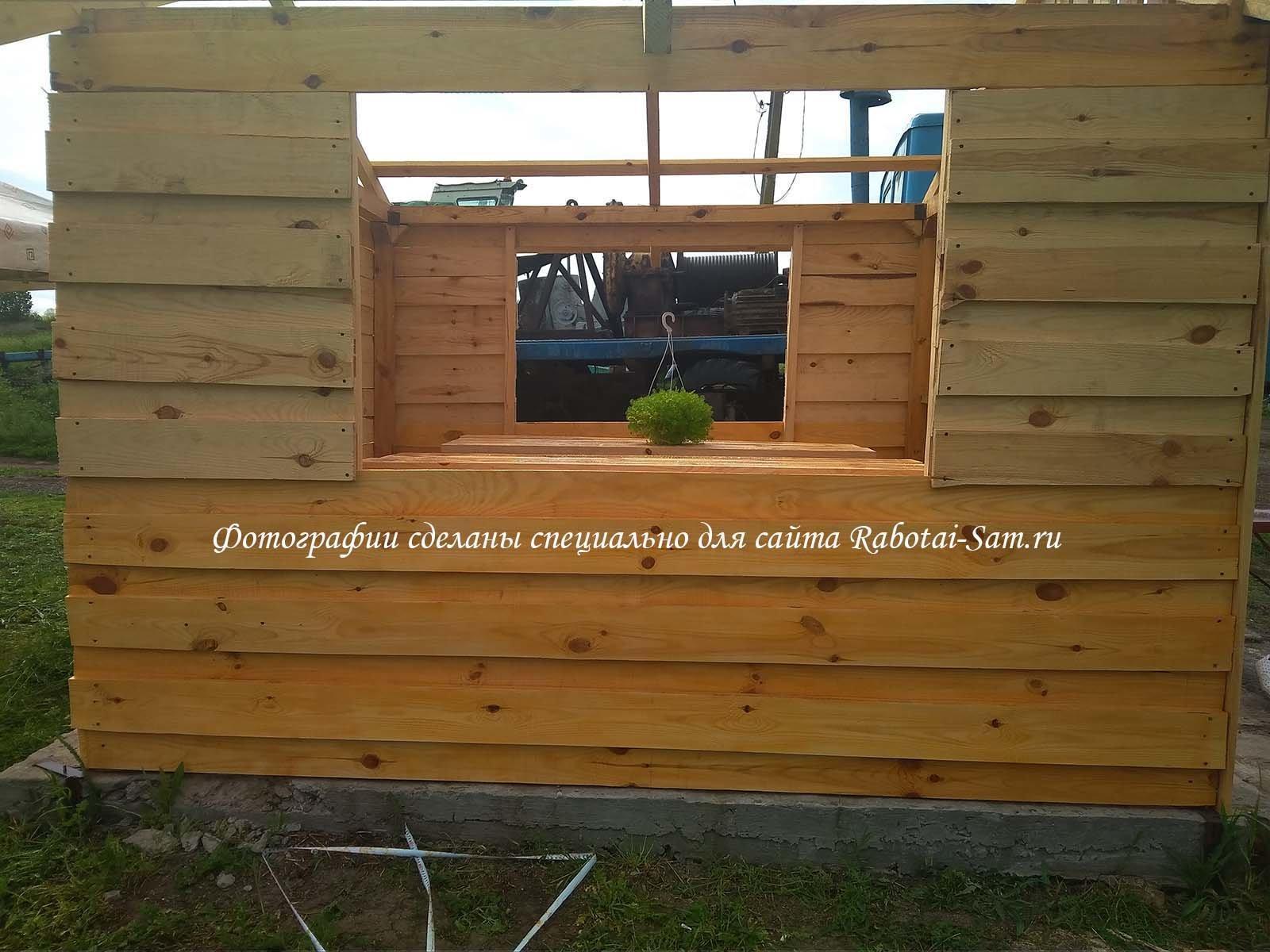 Покрытие деревянной беседки пропиткой