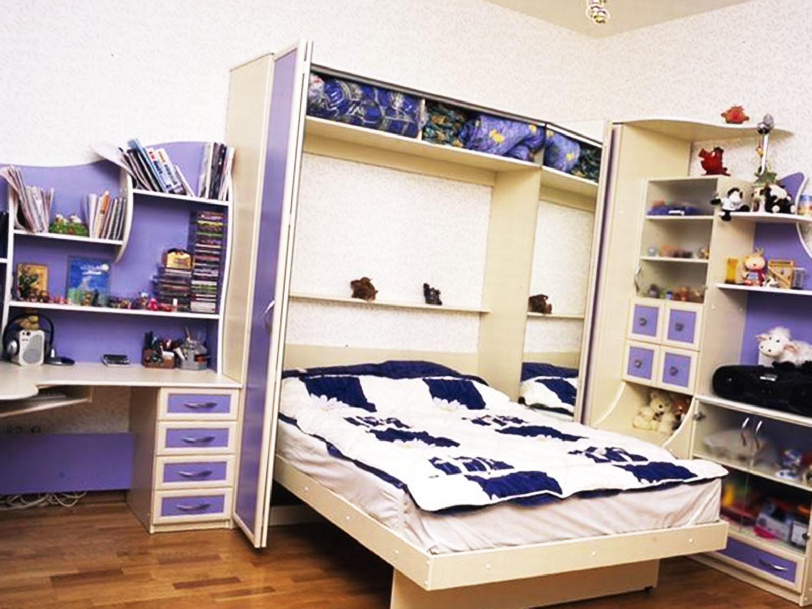 Шкаф-кровать в детской комнате 2020
