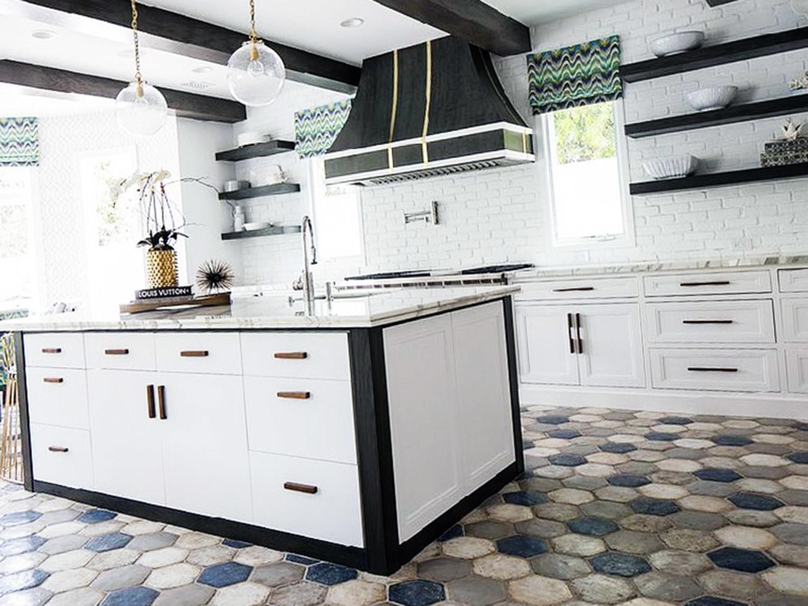 Шестиугольная каменная плитка для кухонного пола 2019-2020
