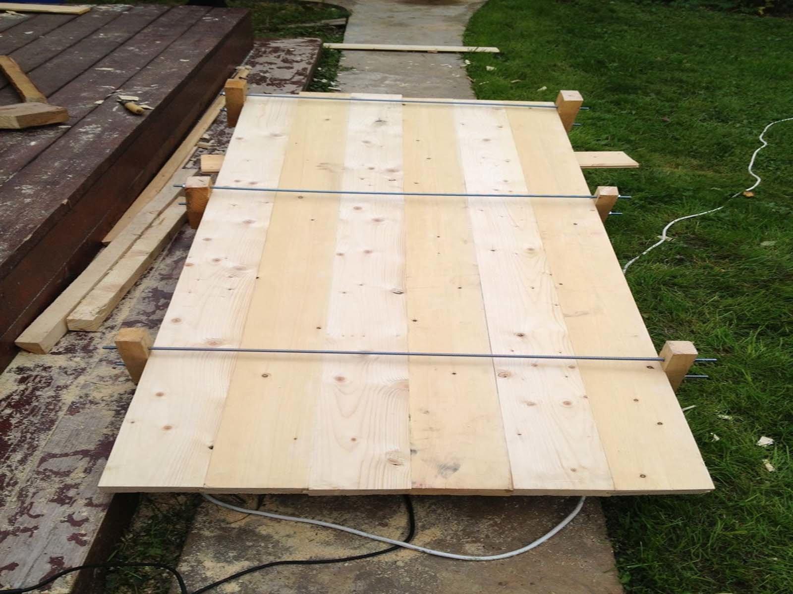 Изготовление столешницы для стола из досок