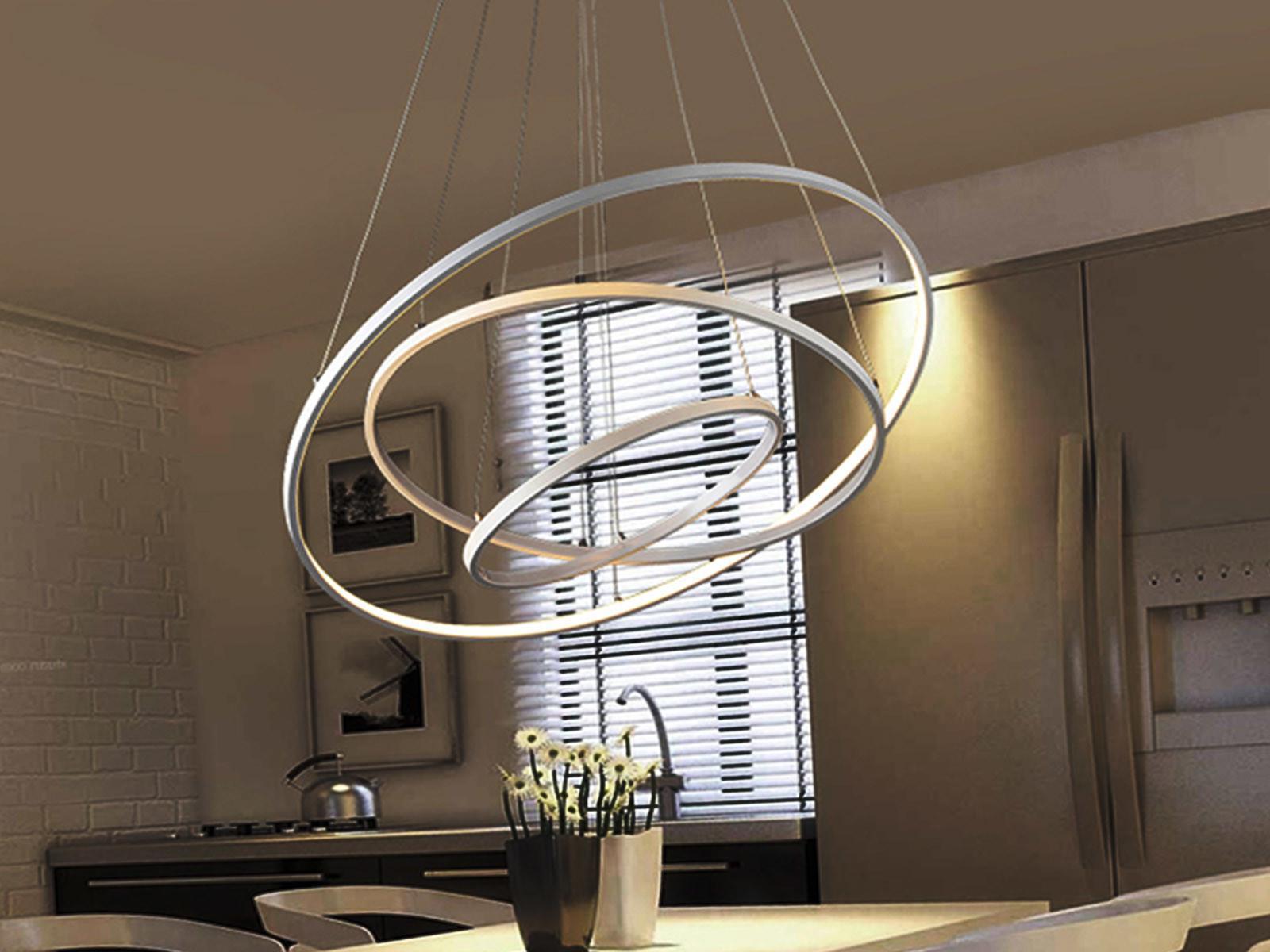 Выбираем на кухню кольцеобразные светильники