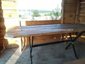 Самостоятельная установка готового стола в беседку