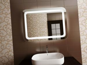 Зеркало с подсветкой для современной ванной комнаты