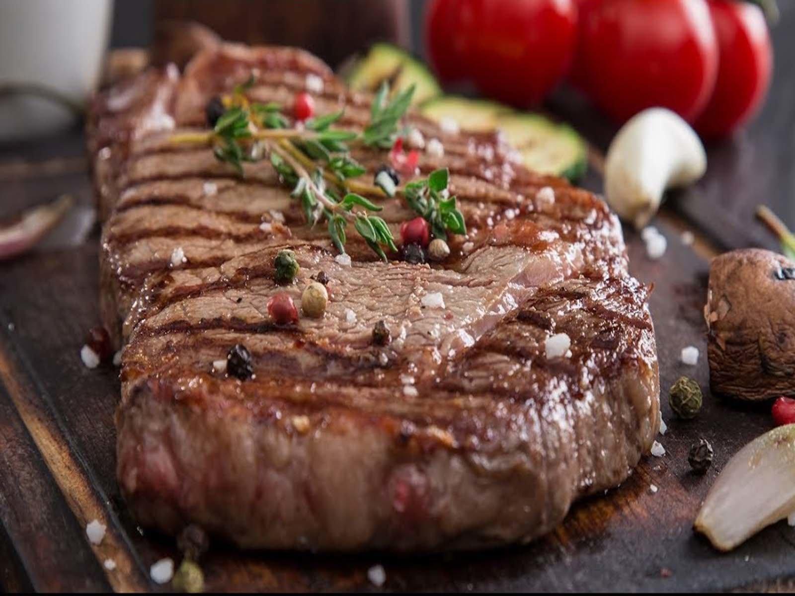 Так выглядит готовый стейк из говядины
