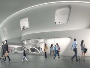 Внутреннее пространство музея роботов